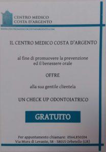 checkup gratis odontoiatria